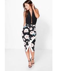 421d30a0f Boohoo Marley Tie Waist Box Pleat Midi Skirt Out of stock · Boohoo Amalya  Asymetric Large Floral Midi Skirt