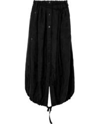 Ann Demeulemeester Asymmetric Floral Cupro Jacquard Midi Skirt