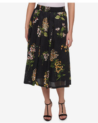 Tommy Hilfiger Cotton Floral Print Midi Skirt Created For Macys