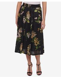 Cotton floral print midi skirt created for macys medium 3649937