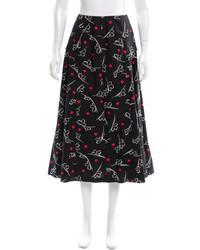Floral print midi skirt medium 3649935