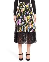 Dolce & Gabbana Iris Print Skirt
