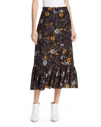 Dolan Kitty Silk Midi Skirt