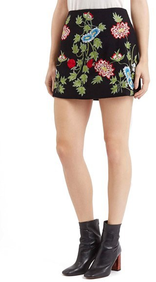 b776a7623b Topshop Floral A Line Miniskirt, $105 | Nordstrom | Lookastic.com