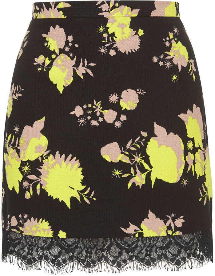 31d71aaccc Topshop Flower Print Mini Skirt, $68 | Topshop | Lookastic.com