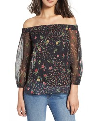 Bailey 44 Luba Off The Shoulder Floral Top