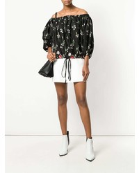 MARQUES ALMEIDA Marquesalmeida Floral Off Shoulder Blouse