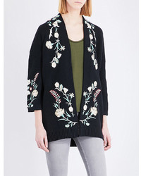 Mirodi floral embroidered cotton blend cardigan medium 3650221
