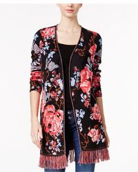 Petite floral print cotton cardigan created for macys medium 3650222