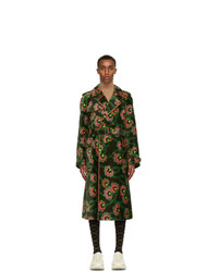 Gucci Green Ken Scott Edition Velvet Floral Coat