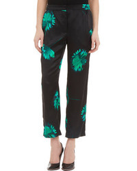 Floral print satin pajama pants medium 45787