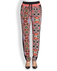 Rebecca Minkoff Malone Floral Printed Silk Pants