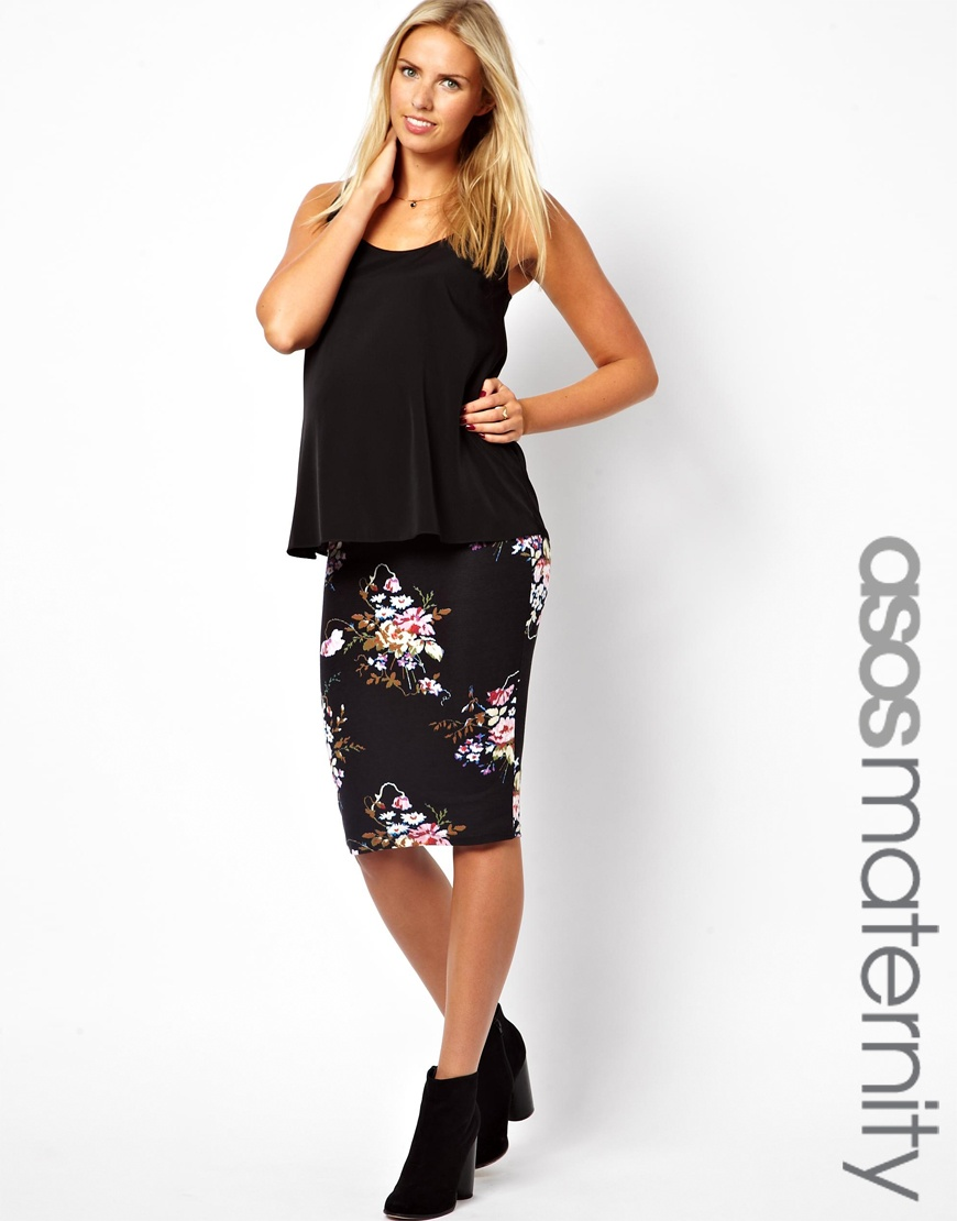 Printed pencil midi skirt – Modern skirts blog for you