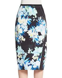 Elie tahari maureen printed pencil skirt medium 383566