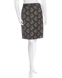 Derek Lam Floral Pencil Skirt