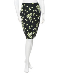 Marni Floral Print Pencil Skirt