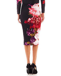 Bisou Bisou Floral Scuba Knit Pencil Skirt | Where to buy & how to ...