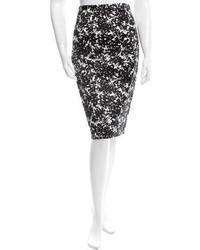 Michael Kors Michl Kors Printed Pencil Skirt