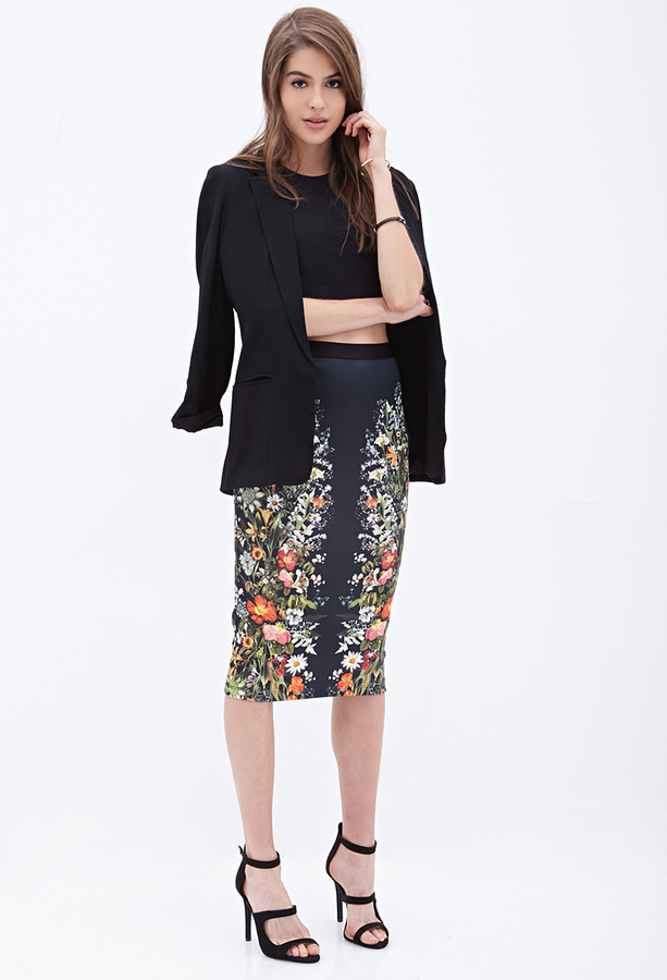 Forever 21 Mirrored Floral Pencil Skirt | Where to buy & how to wear