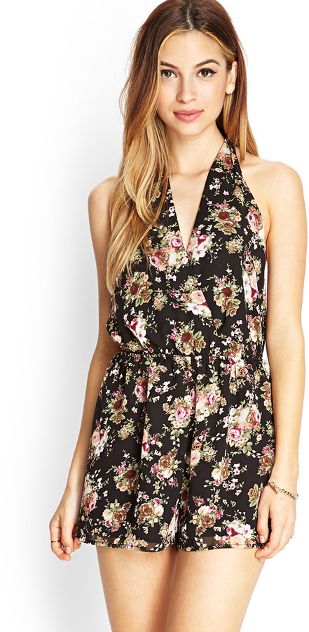 Forever 21 Floral Surplice Romper   Where to buy   how to wear 5490a223a3