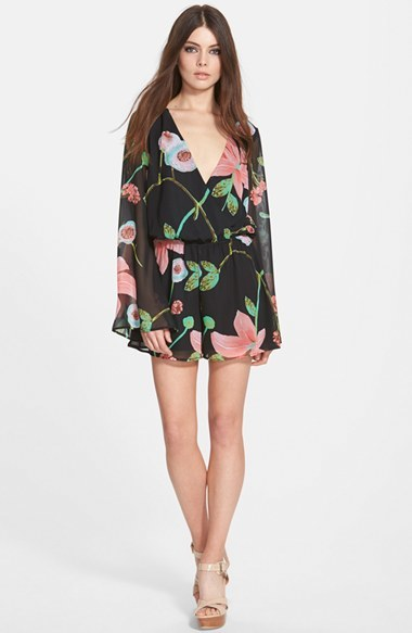 Leith Leith Long Sleeve Print Romper   Where to buy   how to wear 8c4bdb680a