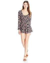 Lucca Couture Daisy Printed Long Sleeve Romper