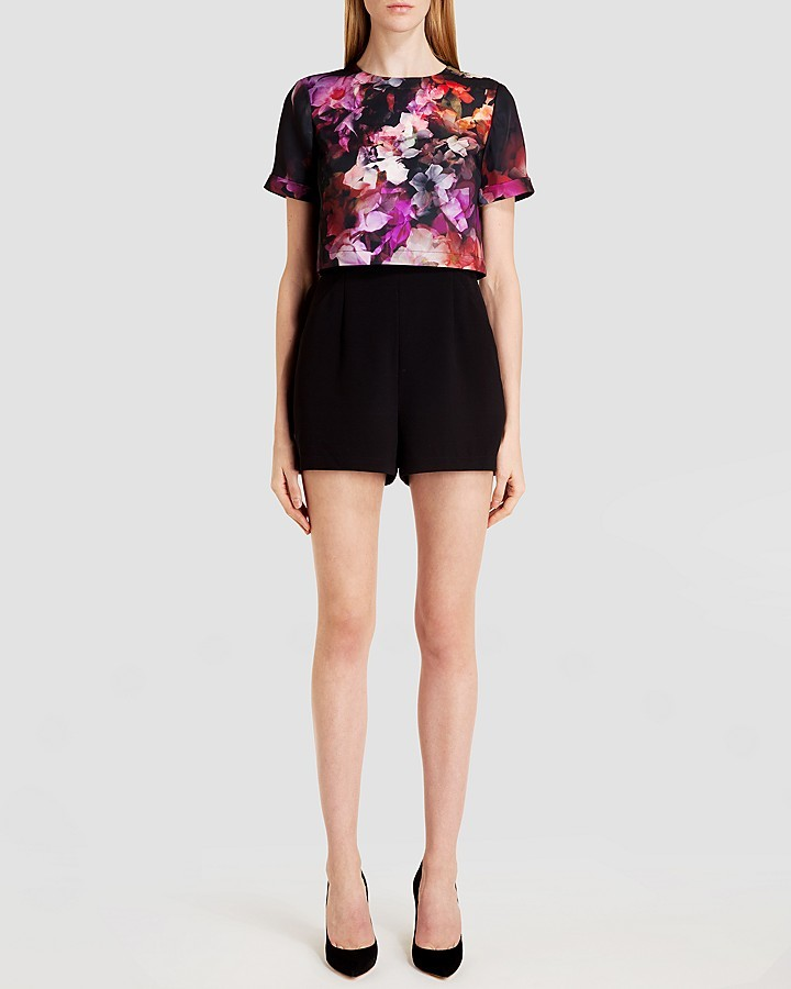2a9748598e62e ... Ted Baker Romper Rosely Cascading Floral ...