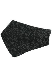 David Van Hagen Floral Jaquard Silk Handkerchief Black