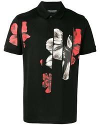 Neil Barrett Floral Print Polo Shirt