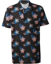 Marc Jacobs Floral Print Polo Shirt