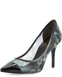 Alec floral mesh patent pump black medium 636003