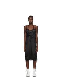 MM6 MAISON MARGIELA Black And Navy Py Slip Dress