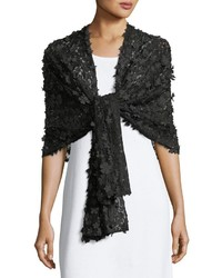 Karl Lagerfeld Floral Appliqu Stole Scarf