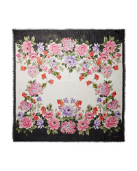 Gucci Fringed Floral Print Modal And Scarf