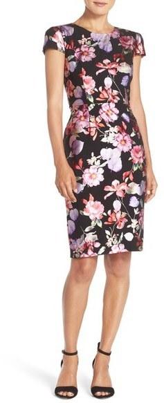 Betsey Johnson Floral Sheath Dress