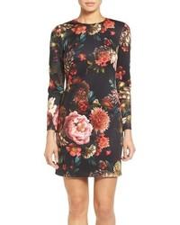 Maia floral print scuba knit sheath dress medium 749093
