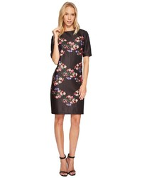 Taylor 34 Sleeve Placed Floral Print Shift