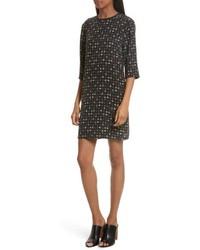 Aubrey floral silk shift dress medium 6748062