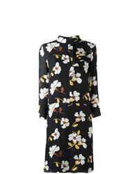 Marni Distal Print Asymmetric Ruffle Dress