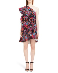Givenchy Floral Print One Shoulder Dress