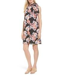 Floral tie neck shift dress medium 4154917