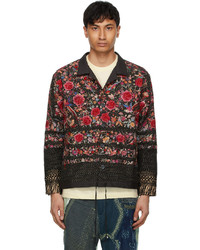 By Walid Black Embroidered Jono Jacket