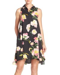 Floral crepe de chine shirtdress medium 1158250