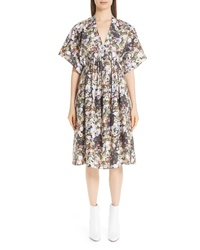 Adam Lippes Floral Print Poplin Dress