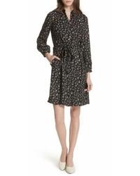 Rebecca Taylor Floral Vine Silk Shirtdress