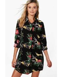 Boohoo Lydia Floral Shirt Dress