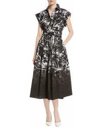 Michael Kors Michl Kors Collection Short Sleeve Dip Dye Shirtdress