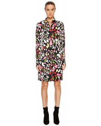 Sonia Rykiel Runway Flower Viscose Printed Shirtdress Dress