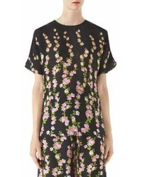 Gucci Floral Short Sleeve Blouse
