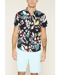 21men 21 Tropical Floral Print Shirt